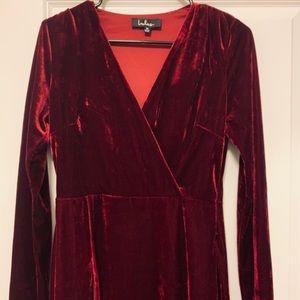 Lulus red velvet dress